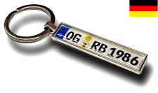 ★ KFZ Kennzeichen Schlüsselanhänger Mini Nummernschild Anhänger Individuell Auto