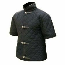 New Brand Gambeson Thick Pa 00004000 dded Black Aketon Medieval vest Jacket Costumes Sca