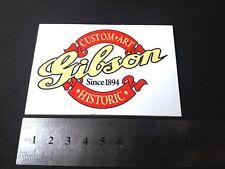 GIBSON rectangular Custom art Since 1894 plastic logo white color 90 mm - 3 1/2'