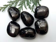1 x JET A Grade Crystal Tumblestones - 20-25mm - Stunning! Protection/Finances