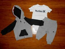 NEW Hurley Jacket Pants Shirt Baby Boys Outfit Size 0 6 Months MRSP $75