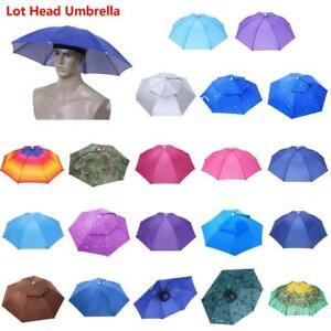 Umbrella Hat Headwear Cap Head Hat UV Sun Shade Elastic Head Band Travel Fishing