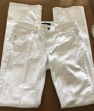 "WHITE HOUSE BLACK MARKET BLANC Boot Leg 32"" Inseam Stretch Jeans SZ 4R"