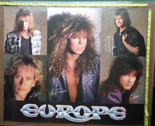 """Europe Poster,30x36"""",Rare Record company promo"""