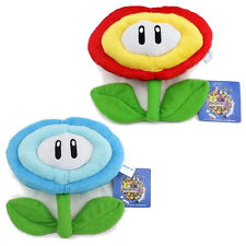 Super Mario Brothers Fire Ice Flower Plant Decoration Plush Toy Stuffed Doll 2pc
