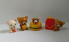 New HK McDonald SAN-X Rilakkuma Korilakkuma Kiiroitori Mini Figures 4 pc Set