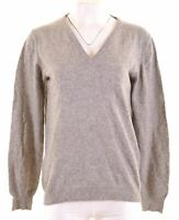 GANT Womens V-Neck Jumper Sweater Size 18 XL Grey Wool  IV18