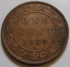 1882 Canada Large Cent Coin. BETTER GRADE (RJ336)