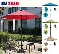 7.5ft Steel Sun Shade Umbrella Parasol Sand Outdoor Patio Party Yard Garden US