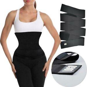 Body Shaper Snatch Me Up Bandage Wrap Lumbar Waist Support Sauna Belt Trimmer mc