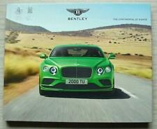 BENTLEY CONTINENTAL GT RANGE Car Hardback Sales Brochure 2016 SPEED Convertible