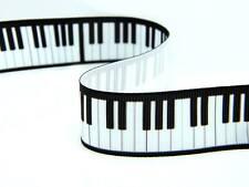 Nero E Bianco Tasti di pianoforte tastiera NOTE NASTRO IN PIZZO TORTA CARTA NOTE MUSICALI UK