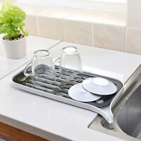 Kitchen Dish Drainer Drip Tray Rack Board Sink Drying Holder Washing Up