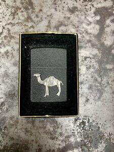 CAMEL CIGARETTES Zippo Lighter RJR Beast Emblem Black Crackle JOE UNFIRED NOS