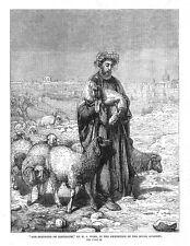 William James webbe le pasteur de Jérusalem-Antique print 1863