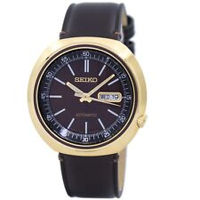 Seiko SRPC16 J1 Gold with Brown Dial Leather Strap Men's Automatic Analog Watch