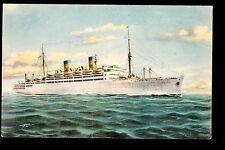 vintage M/S Italia Home Lines ship Italy postcard