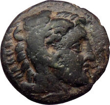 Alexander Iii the Great 336Bc Ancient Greek Coin Hercules Bow Club i30226