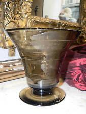 ancien vase verre degagé acide 1930 art deco