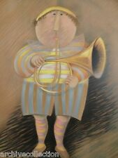 """Graciela Rodo Boulanger """"Musicien Jaune"""" Original Lithograph Art"""
