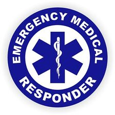 Emergency Medical Responder Hard Hat Decal / Firefighter Helmet Sticker Rescue