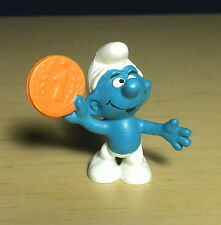 Smurfs Money Smurf 20029 Orange Penny Coin Cent Vintage Figure Toy PVC Figurine