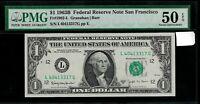 US  $ 1 1963B PMG 50 EPQ Fr # 1902 - L  S/N L40413317G  pp E Federal Reserve