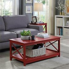 Modern Chic Coffee Table Center Display Shelf Contemporary Living Room Furniture