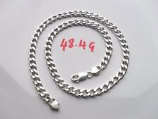 Mens or Ladies Curb Chain Solid Sterling Silver 925 Length 20 inches