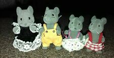 Sylvanian families vintage thistlethorn grey mice mouse family