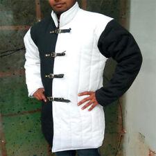 New Medieval Black & White padded Gambeson coat Aketon Reenactment Costumes
