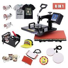 "8 In 1 Digital Heat Press Machine Transfer Sublimation T-Shirt Mug Hat 15""x12"""