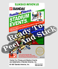 Stadium Events Nes Cartridge Replacement Game Label Sticker Precut