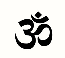 Om Ohm Aum sticker autocollant ordinateur portable Yoga Laptop Sticker Aufkleber