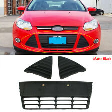 Front Bumper Left Right Cover Lower Grille Matte Black Fit For Ford Focus 12-14