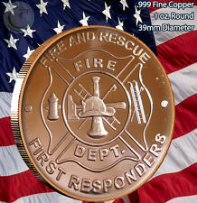 Fire and Rescue - Fire Department 1 oz .999 Copper Round