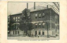 Missouri, MO, Ash Grove, Public School Building 1909 Postcard
