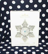 Hallmark Christmas Ornament Stamped Starlight Snowflake Collectible Ho2