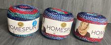 New ListingLion Brand Yarn 575-613 Homespun New Look Yarn, FireworksPack of 3