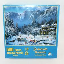 SunsOut  Yosemite Winter By Alexander Chen 500 Piece Jigsaw Puzzle Family Time
