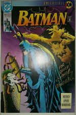 Batman #494, 497, 498, 500 Knightfall lot SIGNED BY DOUG MOENCH
