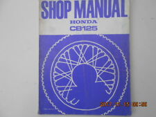 honda  cb125 . shop manual . manuel d'entretien . cb 125