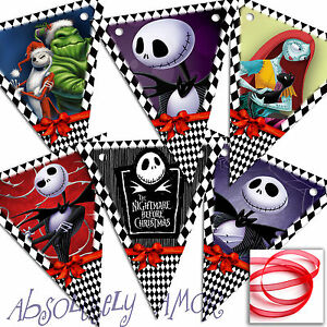 Nightmare Before Xmas SMALL Bunting Party Decoration Birthday Banner/Garland
