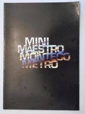 AUSTIN RANGE 1988 Belgian Mkt Sales Brochure- Mini Maestro Metro Montego MG Vans