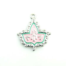 10pcs  Leaf Enamel AKA Sorority Crest Dangle Charm Pendant  DIY Women Jewelry