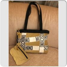 AUTH! VINTAGE MOSCHINO REDWALL REATHER LOGO MOSCHINO BELT TOTE BAG, SHOPPER BAG