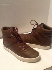 CREATIVE RECREATION MEN'S BROWN LEATHER HIGH TOP SNEAKERS SIZE 7