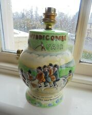 A CROWN DEVON LAMP BASE ~ WIDDECOMBE FAIR ~ LOVELY DISPLAY CONDITION !
