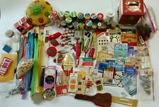 Lot Vintage Sewing Needles Thimbles Zippers Cushions Thread Advertising Notions