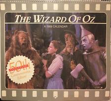 The Wizard of Oz 1989 Vintage Calendar 50th Anniversary Commemorative Edition